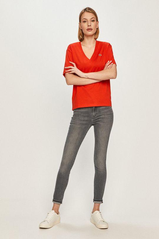 Lacoste - Tričko červená
