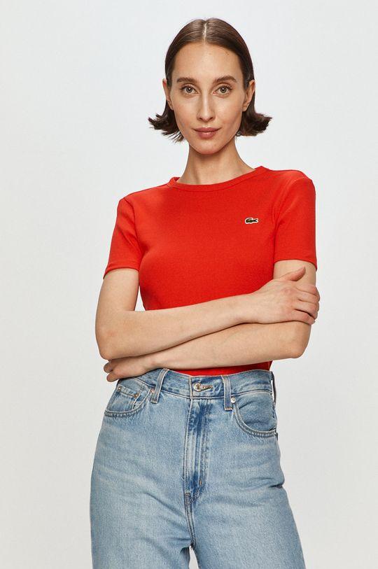 ostry czerwony Lacoste - T-shirt Damski