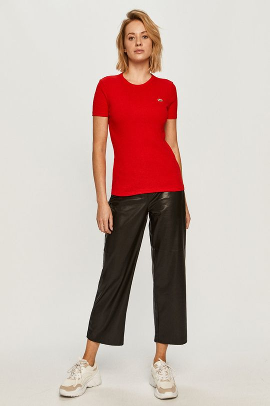 Lacoste - T-shirt czerwony