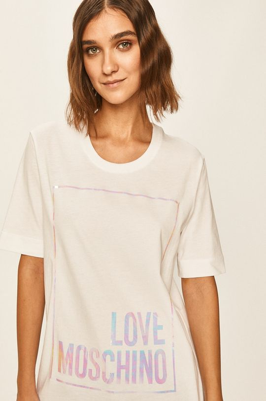 alb Love Moschino - Tricou De femei