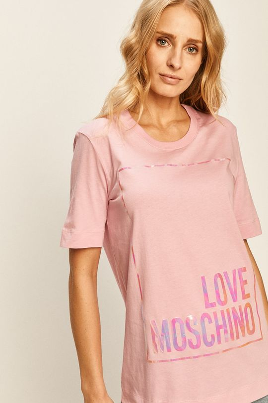 roz Love Moschino - Tricou