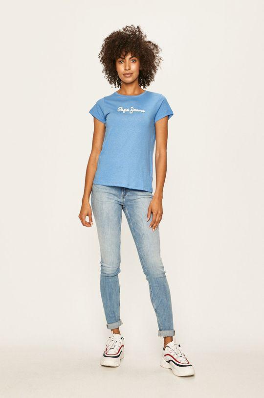 Pepe Jeans - T-shirt Daisy niebieski
