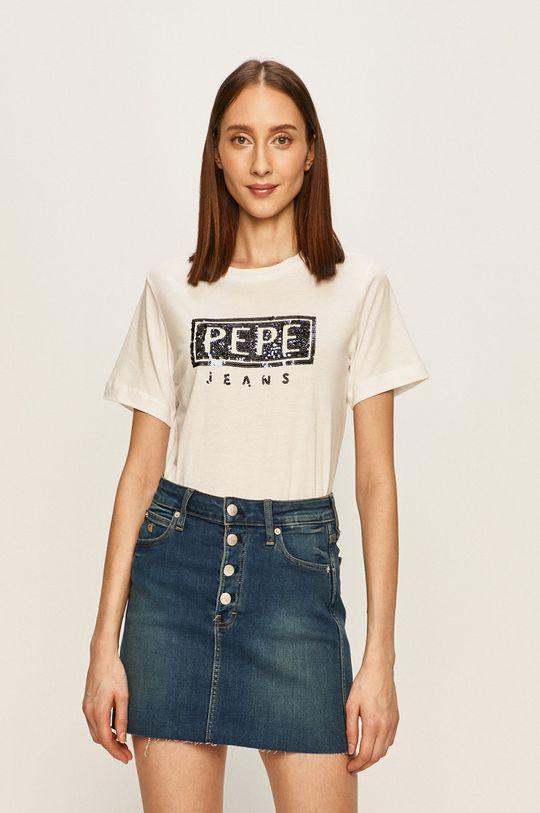 alb Pepe Jeans - Tricou Charis De femei