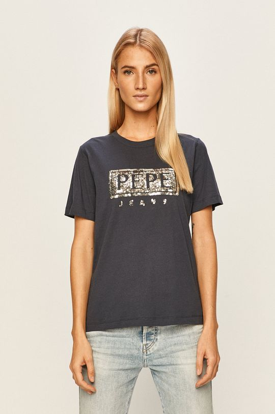 bleumarin Pepe Jeans - Tricou Charis De femei