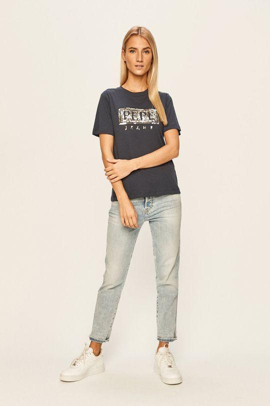 Pepe Jeans - Tricou Charis bleumarin