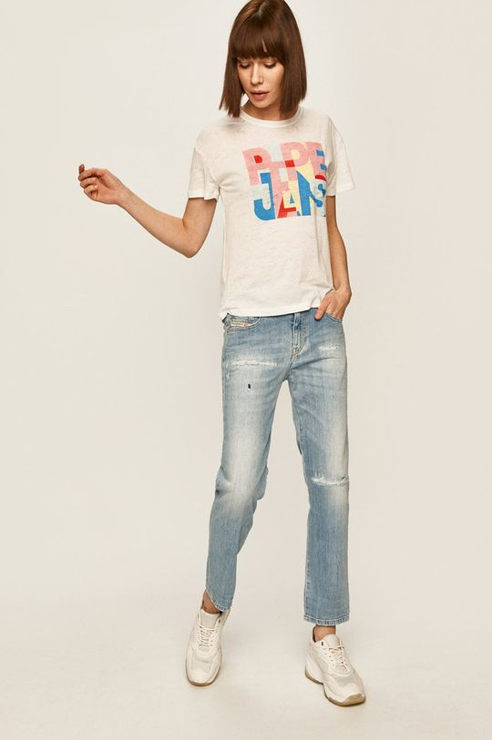 Pepe Jeans - T-shirt Brooke biały