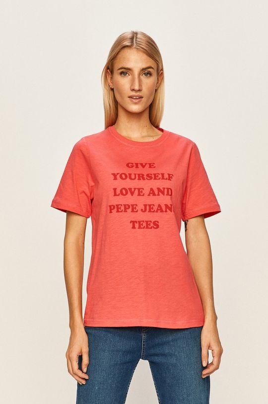 ostry różowy Pepe Jeans - T-shirt Freja Damski