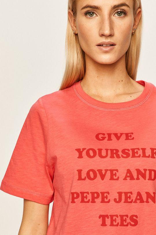 ostry różowy Pepe Jeans - T-shirt Freja