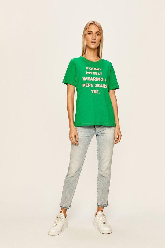 Pepe Jeans - Tričko Freja zelená