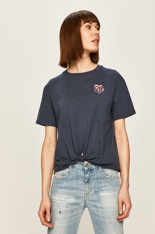 granatowy Pepe Jeans - T-shirt Fleur Damski