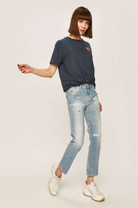 Pepe Jeans - T-shirt Fleur granatowy