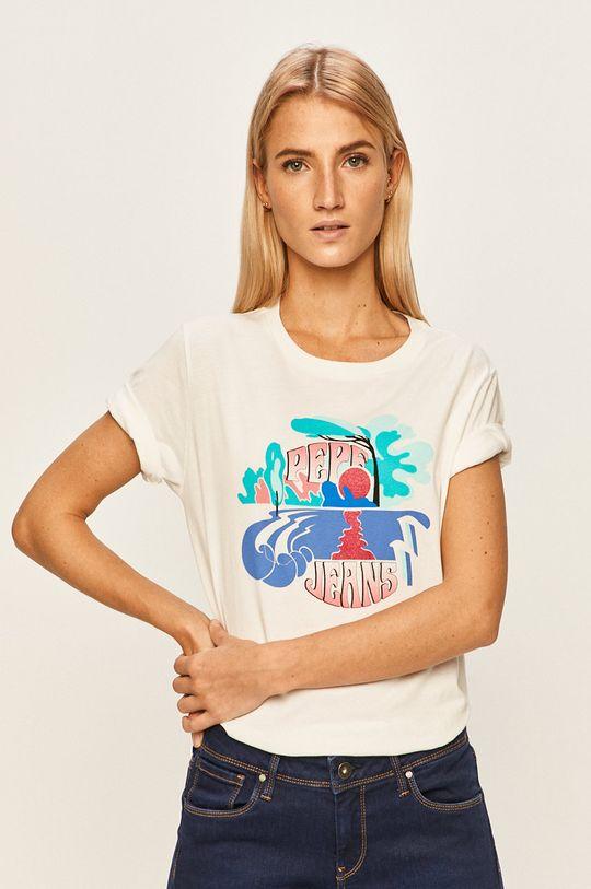 biały Pepe Jeans - T-shirt Faith Damski
