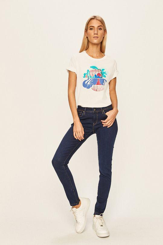 Pepe Jeans - T-shirt Faith biały