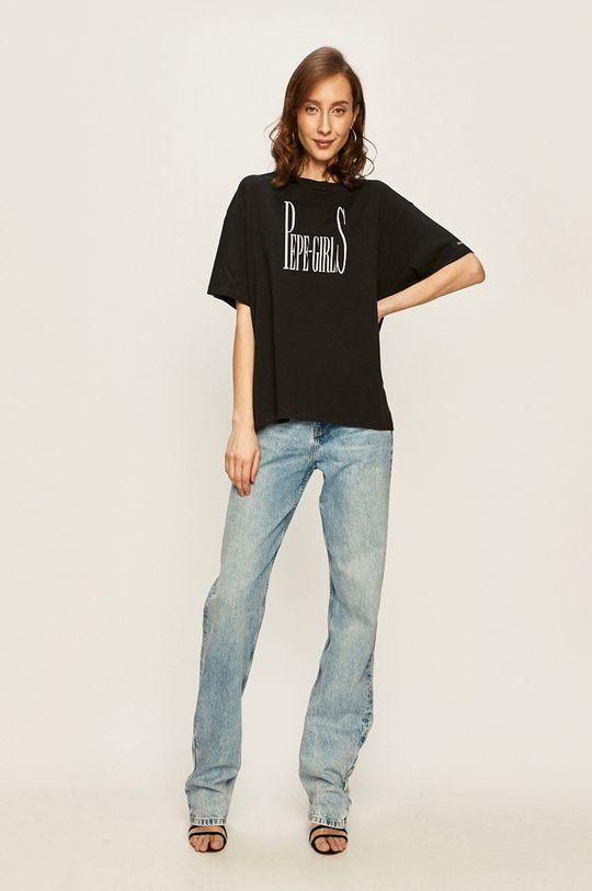 Pepe Jeans - Tricou Lula x Dua Lipa negru