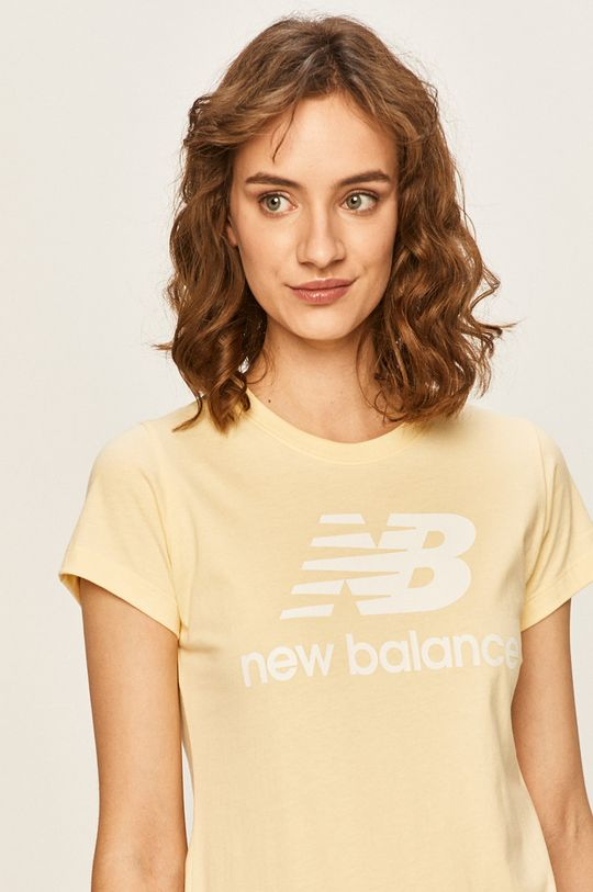 svetložltá New Balance - Tričko