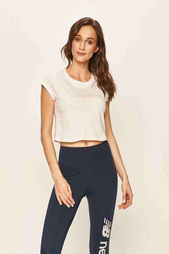 biały New Balance - T-shirt