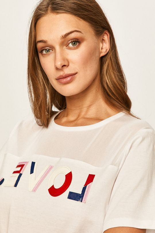biela Desigual Sport - Tričko