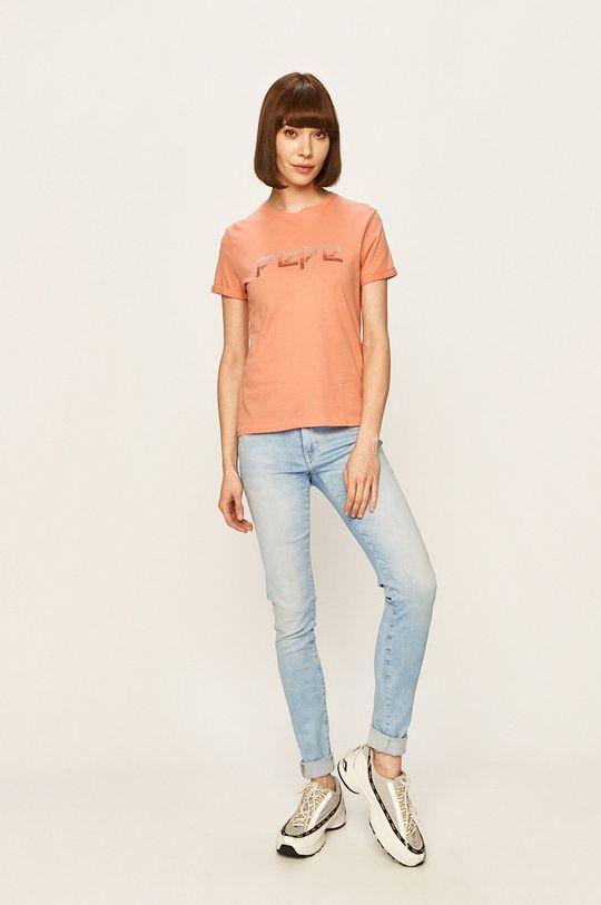 Pepe Jeans - Tricou Maggie roz