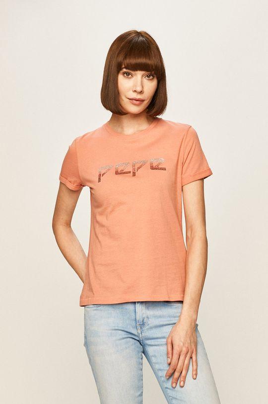 roz Pepe Jeans - Tricou Maggie
