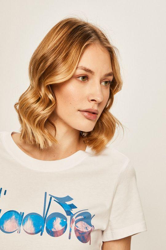 biały Diadora - T-shirt