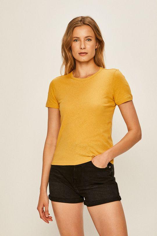 żółty Brixton - T-shirt