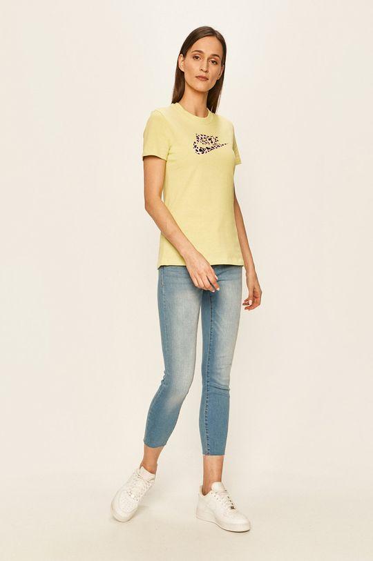 Nike Sportswear - Tričko žlutě zelená