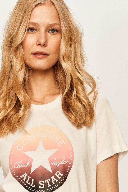 biały Converse - T-shirt