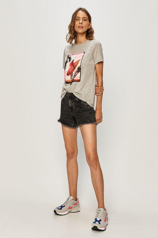 Vero Moda - T-shirt jasny szary