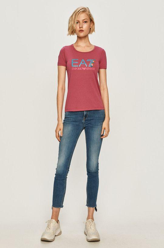 EA7 Emporio Armani - T-shirt różowy