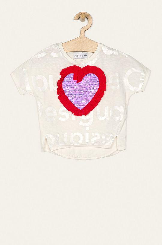 alb Desigual - Tricou copii 104-164 cm De fete