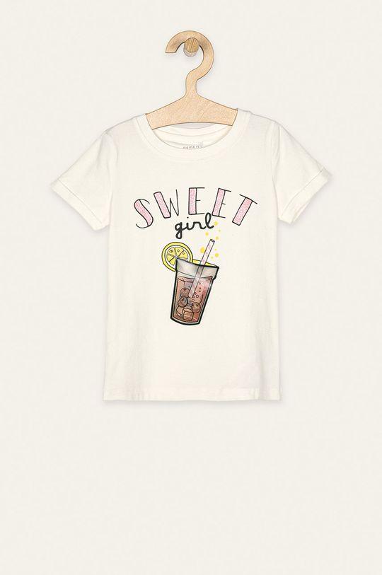 bílá Name it - Dětské tričko 104-110 cm Dívčí
