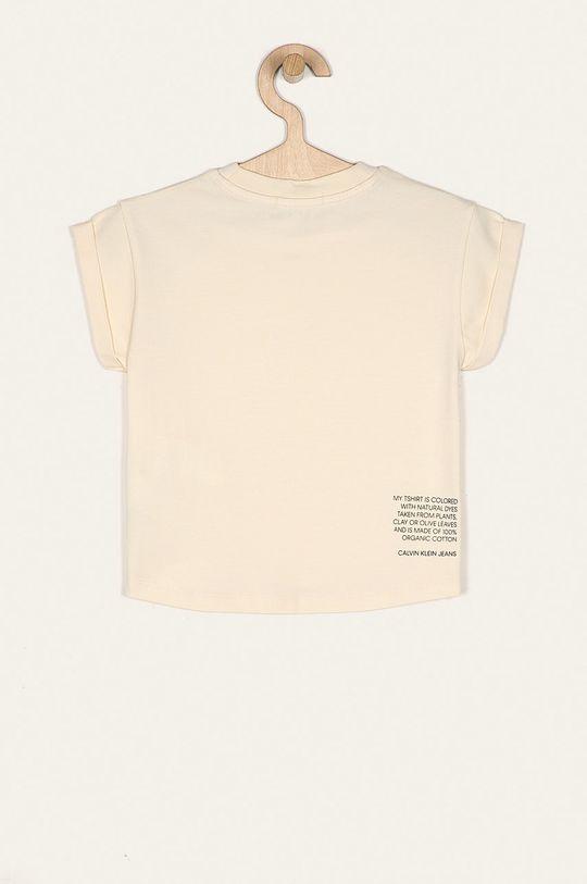 Calvin Klein Jeans - T-shirt dziecięcy 104-176 cm kremowy
