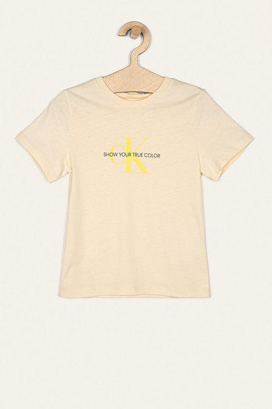krémová Calvin Klein Jeans - Detské tričko 116-176 cm Dievčenský