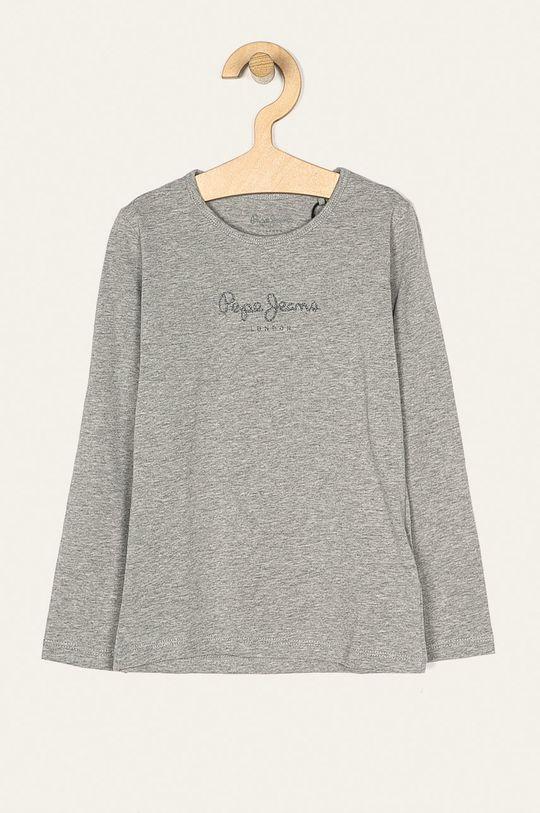 světle šedá Pepe Jeans - Dětské tričko s dlouhým rukávem Hana Glitter 92-122 cm Dívčí
