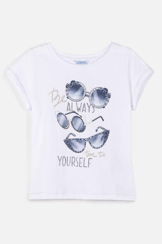 бял Mayoral - Детска тениска 128-167 cm Момиче
