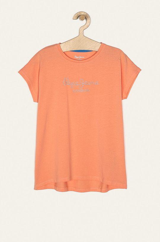 oranžová Pepe Jeans - Detské tričko Nuria 128-178/180 cm Dievčenský