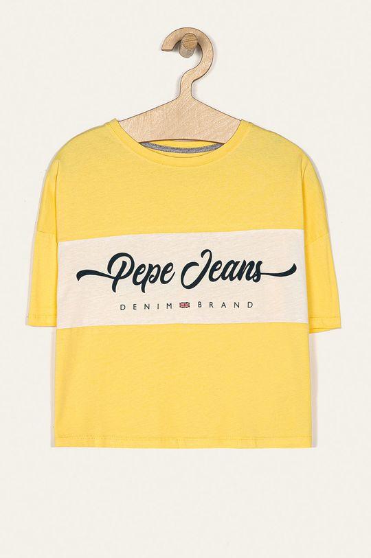 žltá Pepe Jeans - Detské tričko Maylis 128-180 cm Dievčenský