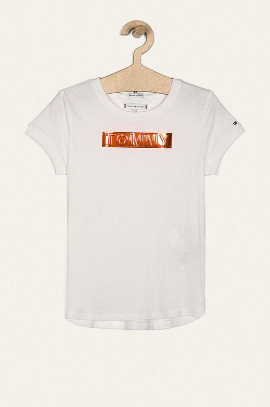 biały Tommy Hilfiger - T-shirt dziecięcy 128-176 cm Dziewczęcy