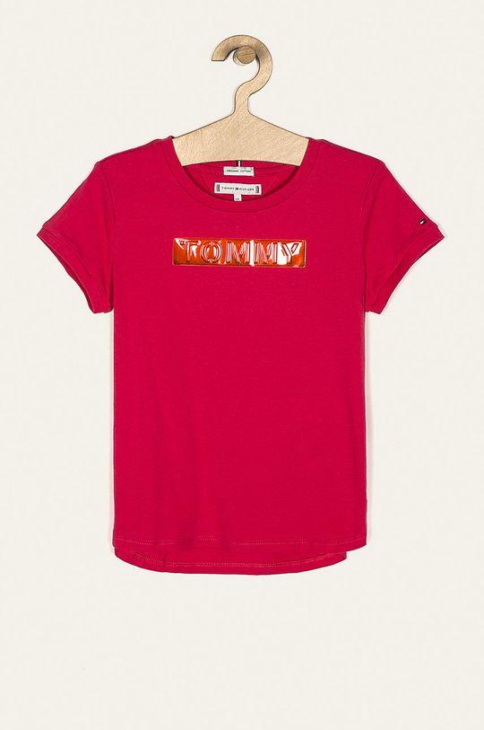 orchidea Tommy Hilfiger - T-shirt dziecięcy 128-176 cm Dziewczęcy