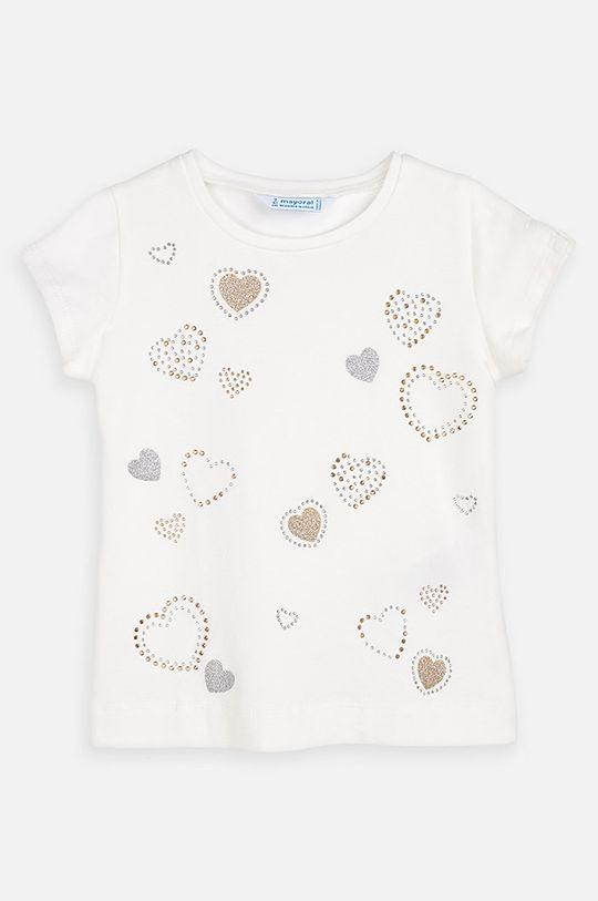 Mayoral - Detské tričko 92-134 cm krémová