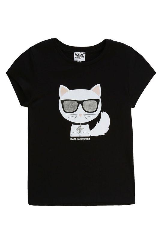 negru Karl Lagerfeld - Tricou copii 114-150 cm De fete