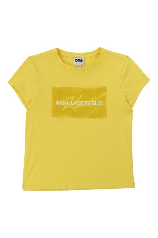 žltá Karl Lagerfeld - Detské tričko 114-150 cm Dievčenský