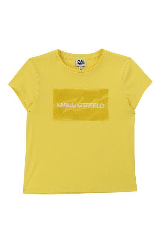 galben Karl Lagerfeld - Tricou copii 156-162 cm De fete