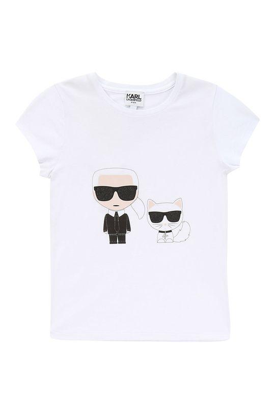 alb Karl Lagerfeld - Tricou copii 138-150 cm De fete