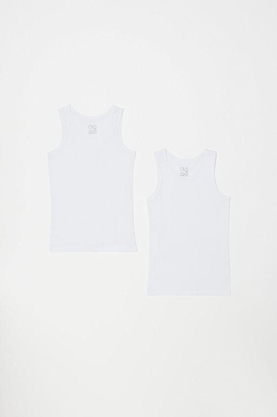 biela OVS - Detský top 92-128 cm (2-pak) Dievčenský