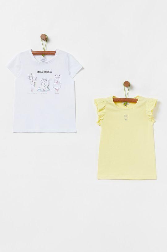 žltá OVS - Detské tričko 104-140 cm (2-pak) Dievčenský