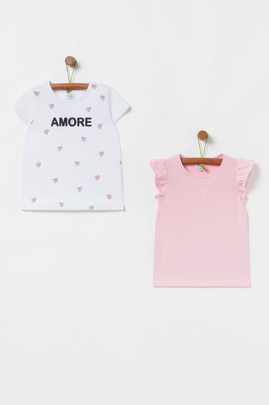 staroružová OVS - Detské tričko 104-140 cm (3-pak) Dievčenský