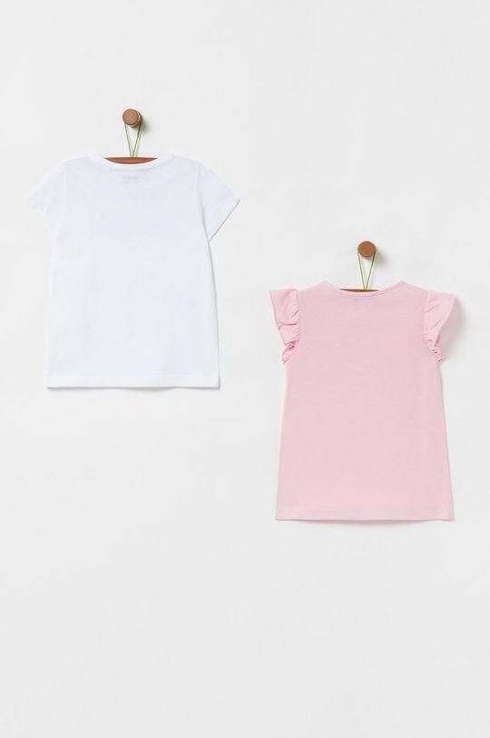 OVS - Detské tričko 104-140 cm (3-pak) staroružová