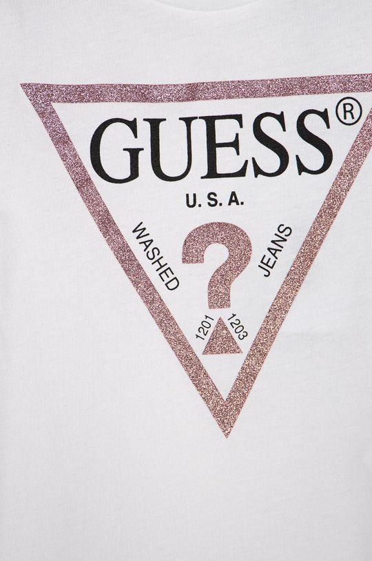 Guess Jeans - T-shirt dziecięcy 92-122 cm. biały