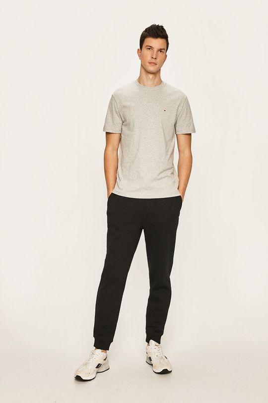 Tommy Jeans - Pánske tričko sivá